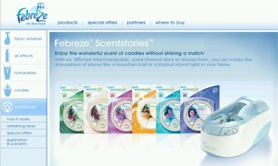 Home Made Simple Febreze Free Scentstories Disc Fragrances - Canada and US