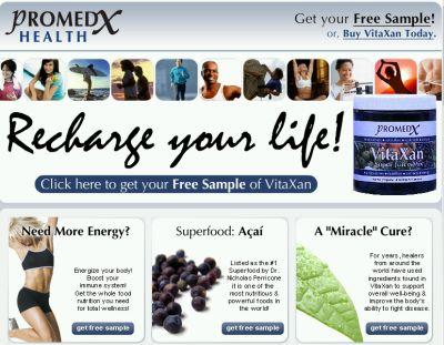 Promedx Health Free VitaXan Supplement Sample - Worldwide
