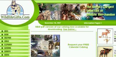 WildlifeGifts.com Free Calendar and Catalog - US