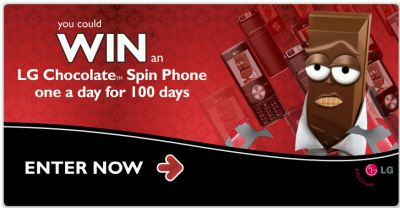 Nestle Singles Win an LG Chocolate Spin Phone One a Day for 100 Days - Exp May 6, 2008, Canada