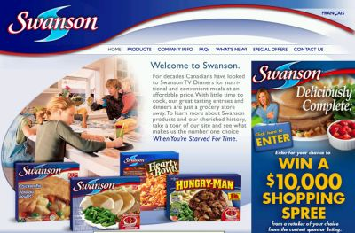 Swanson Meals Win a $10,000 Shopping Spree Contest - Exp Apr. 13, 2008, Canada