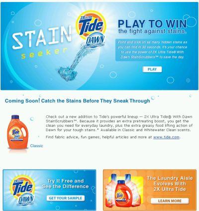 Walmart Free Tide 2x Plus Dawn Laundry Detergent Sample - US