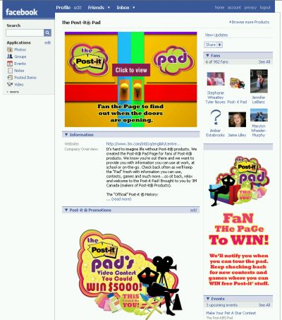 3M The Post-It Pad on Facebook Win up to $5,000 in Fan Video Contest - Exp. Aug. 18, 08, Canada