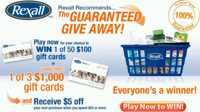 Rexall Recommends Win 1 of 3 $1,000 Gift Cards Contest - Exp. Jun. 27, 08, Canada