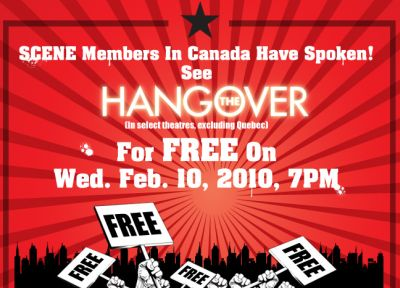 Cineplex Entertainment Theatres Scene Free Movie Event for The Hangover on February 10, 2010 - Canada