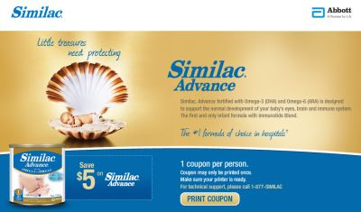 picture relating to $5 Similac Printable Coupon identified as Similac Progress Youngster Method Printable Conserve $5 Coupon Canada