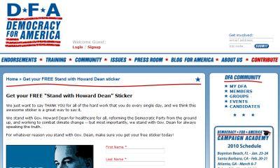 Democracy for America Free