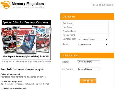 Mercury Magazines Free One-Year Subscription of Popular Science Magazine (Digital Edition) - US