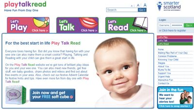 InfoScotland.com Play Talk Read Free Soft Cube for Children - Scotland Only?