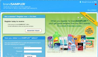 P G Brandsampler Free Samples From P G Brands Cascade Gillette And More Canada Free Stuff Page