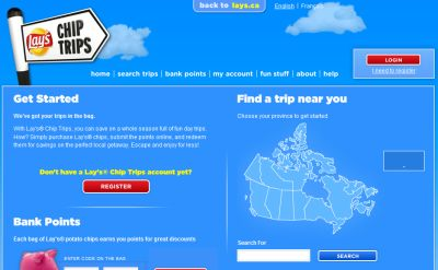Lay's Potato Chips Chip Trips Earn Points for Trips and Rewards - Canada