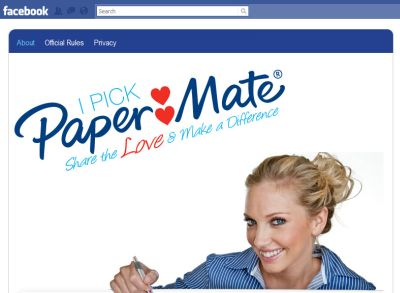 I Pick Paper Mate Pen free Pen or Pencil for Your Photo - Exp. September 30, 2010, Facebook Offer, US