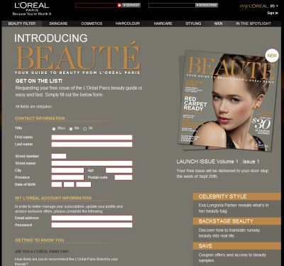 L'Oréal Paris Free Beaute Beauty Guide with $30 Worth of Coupons - Canada