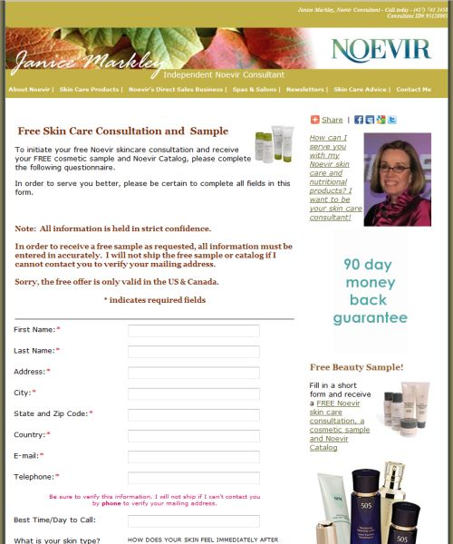 Noevir Free Skin Care Consultation and Sample - Canada and US