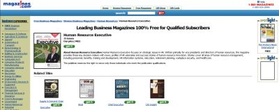 Magazines.com Free Subscription to Human Resource Executive - Canada, Mexico, and US