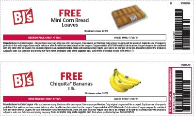 picture relating to Bjs Printable Coupons referred to as BJs Wholesale Club Printable Discount coupons for Cost-free Mini Corn