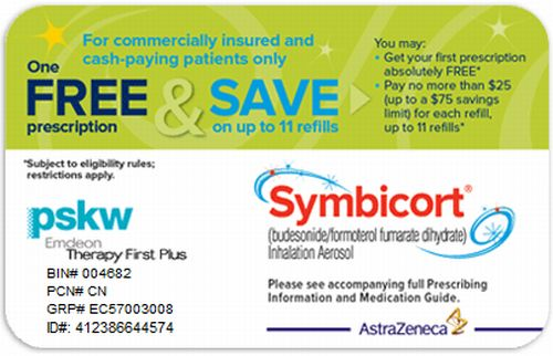 symbicort free savings card for first free prescription offer for chronic obstructive pulmonary disease copd - Free Prescription Card
