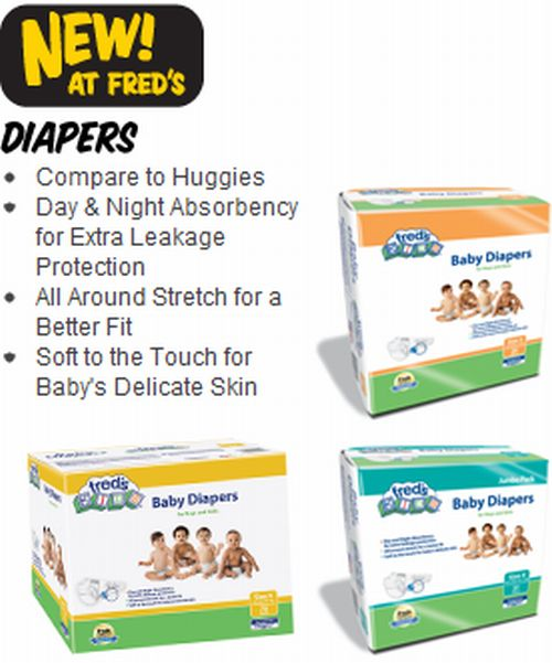 Fred's Brand Diaper Two Free Samples of Baby Diapers - Exp. May 31, 2011, US