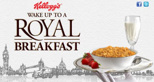 Kellogg's Wake up to a Royal Breakfast Win 7 Days of London Luxury and a Free Money Off Coupons on Kellogg's Vector, Special K or Corn Flakes - Canada