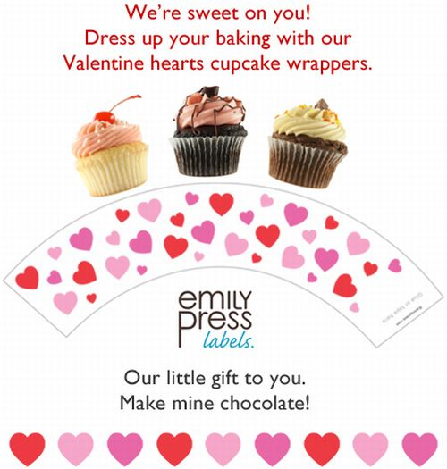 photograph about Free Printable Cupcake Wrappers known as Emily Thrust Absolutely free Printable Cupcake Wrappers by Fb