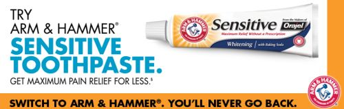 TryAHSensitive.com FreeAHSensitive.com Free Sample of Arm and Hammer Sensitive Toothpaste - US