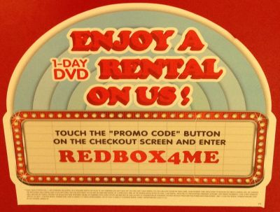 Redbox Free 1-Day DVD Rental Promo Code - Canada