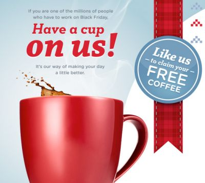 Seattle's Best Coffee Black Friday Coffee Break Free 1.75 Ounce Coffee Sample via Facebook