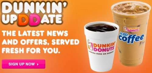 Dunkin' Donuts Join Donuts Perks for Latest News and Offers