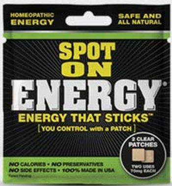 Spot On Energy Energy That Sticks Free Sample of Two Patches via Facebook - US