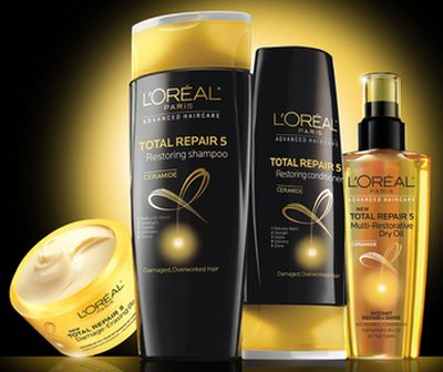 L'Oreal Paris Free Total Repair 5 with Ceramide Advanced Haircare Solution Sample - US