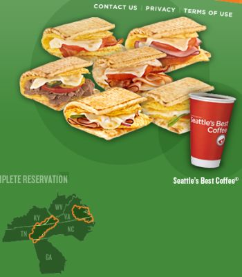 Subway Breakfast Free 3-Inch Flatbread Breakfast Sandwich and a Coffee - Selected US States