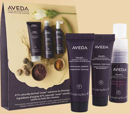 Aveda Invati Shampoo and Conditioner Free 3-Step System Sample Pack