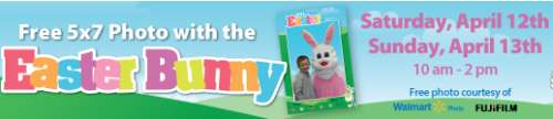 Walmart Photos Free 5×7 Photo with Easter Bunny - 10 a.m. to 2 p.m. on April 12 - 13, 2014, US