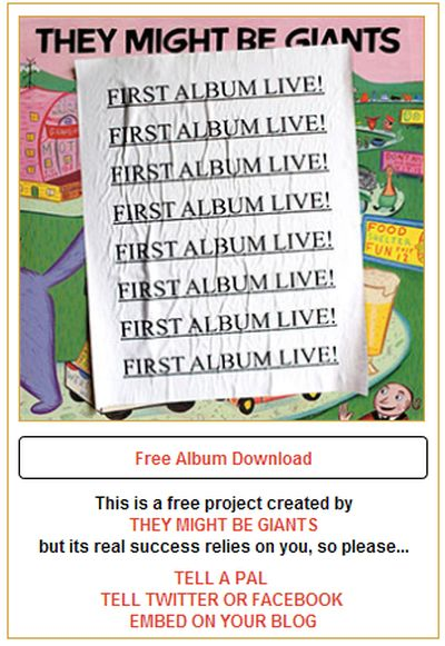 They Might Be Giants Free First Album Live! Download