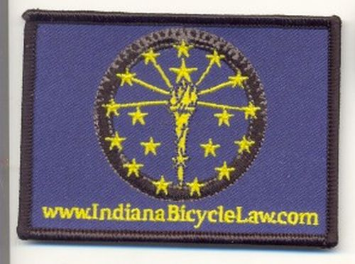 Indiana Bicycle Law Free Bike Patch and Sticker