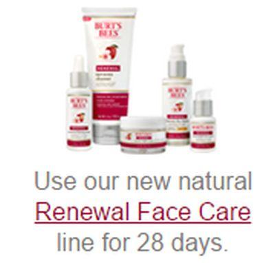 Burt's Bees 28-Day Face Cleanse Free Renewal Intensive Firming Serum Sample - Exp. June 1, 2015, US