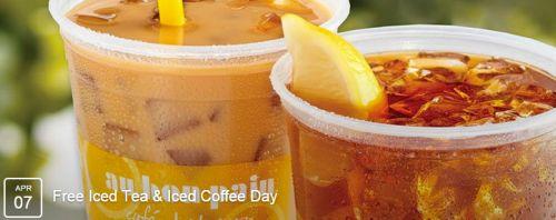 Au Bon Pain Free Medium Iced Tea or Iced Coffee on April 7, 2015 between 2 p.m. to 5 p.m.