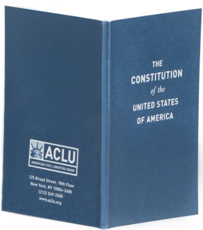 ACLU Single Pocket Constitution of the United States POCKETRIGHTS - US