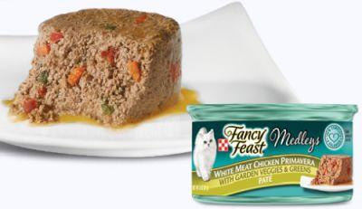 Purina Fancy Feast Medleys White Meat Chicken Primavera Paté Cat Food