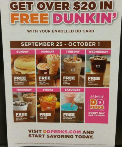 Dunkin Donuts Perks