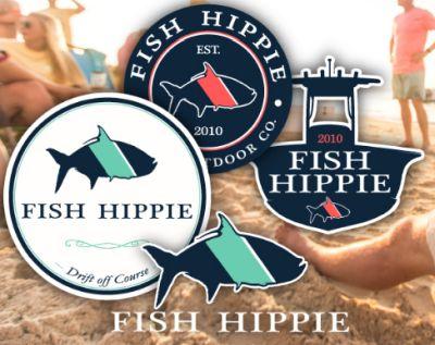 Fish Hippie Free Stickers
