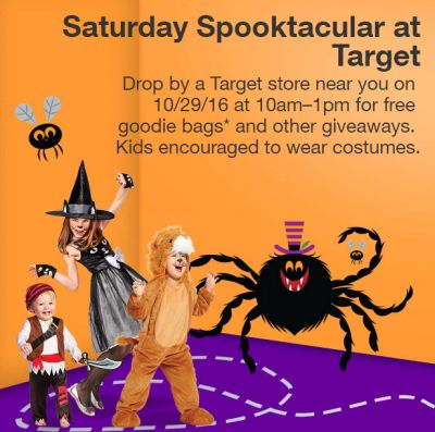 Target Spooktacular Halloween Event Goodie Bags and Other Giveaways