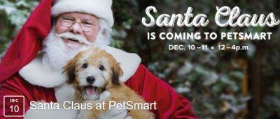 PetSmart Free Photo of Your Pet with Santa - December 10-11, 2016, US