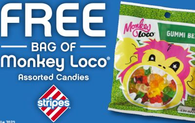 Stripes Monkey Loco Assorted Candies