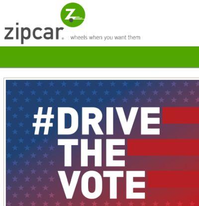 Zipcar Car Rental on Election Day