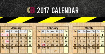 Charles E. Boyk Law Free 2017 Calendar Magnet - Australia, Canada and US