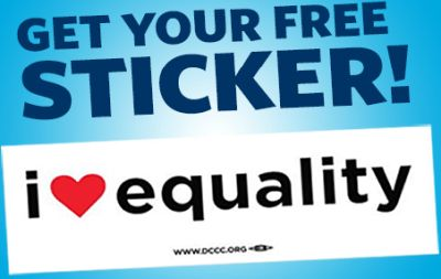 DCCC Free I Heart Equality Sticker - US