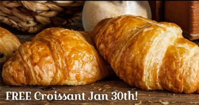 La Madeleine French Bakery Free Croissant on January 30, 2017
