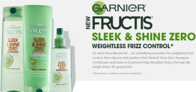 Garnier Fructis Sleek & Shine Zero Hair Care Free Sample - US