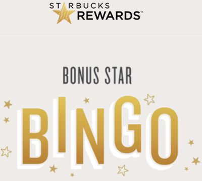 Starbucks Rewards 10 Free Starbucks Rewards Stars with Bonus Star Bingo - US